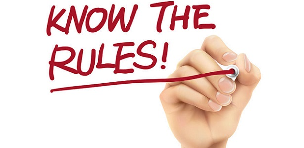 know the rules words written by 3d hand over white background